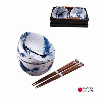 Sada misek Blue & White Splash set 13 cm