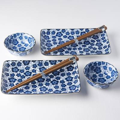 Sushi set Blue Plum Design, 4 kusy